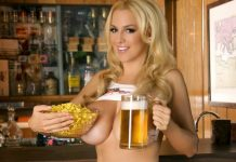 Jordan Carver Hooters Hot Nude in Break Time - BIG BOOBS JORDAN CARVER