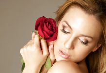 Jordan Carver and Rose Flowers - BIG BOOBS JORDAN CARVER