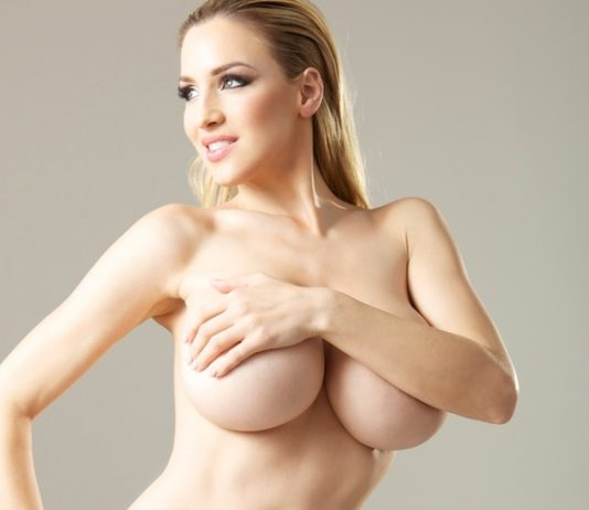 Jordan Carver in Criss Cross White Bikini - BIG BOOBS JORDAN CARVER
